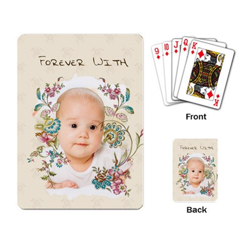 Baby By Wood Johnson   Playing Cards Single Design   D75wdn1arrsg   Www Artscow Com Back