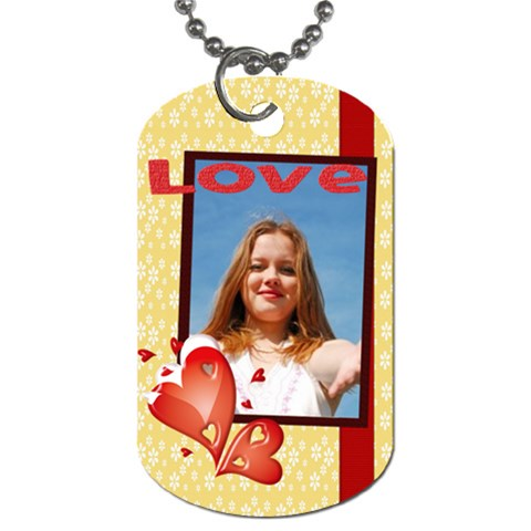 Love By Wood Johnson   Dog Tag (one Side)   Xl84bfz1dn24   Www Artscow Com Front