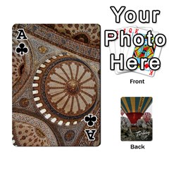 Ace Turkey Cards By Nancyb   Playing Cards 54 Designs   G5bcbu253qjc   Www Artscow Com Front - ClubA