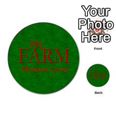 Farm Memory By Brookieadkins Yahoo Com   Multi Purpose Cards (round)   Eykna11w6k43   Www Artscow Com Front 39