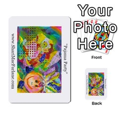 Double Side Pocket Portfolio 2 By Alana   Multi Purpose Cards (rectangle)   D95p5kdadisy   Www Artscow Com Back 28