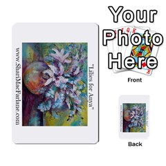 Double Side Pocket Portfolio 2 By Alana   Multi Purpose Cards (rectangle)   D95p5kdadisy   Www Artscow Com Back 40
