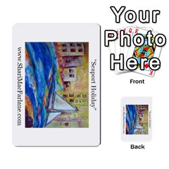 Double Side Pocket Portfolio 2 By Alana   Multi Purpose Cards (rectangle)   D95p5kdadisy   Www Artscow Com Back 49