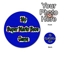 Boys Memory Game By Brookieadkins Yahoo Com   Multi Purpose Cards (round)   Plpu75p0ktrz   Www Artscow Com Front 33