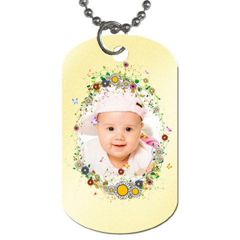Baby By Wood Johnson   Dog Tag (one Side)   Lq3wi6srlvkp   Www Artscow Com Front
