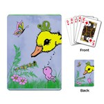 Duck, bird, butterfly, worm - Easter Basket Cards - Playing Cards Single Design