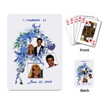 Sample Wedding Favor Cards - Playing Cards Single Design