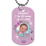 It s a girl! dogtag - Dog Tag (One Side)