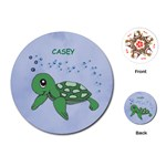 turtle cards for easter basket - Playing Cards (Round)
