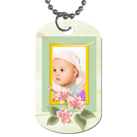 Baby By Wood Johnson   Dog Tag (one Side)   Sj3bkz0yaofz   Www Artscow Com Front