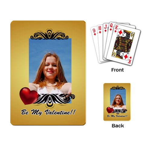 Love Playing Card By Wood Johnson   Playing Cards Single Design   L6otdukh5sf0   Www Artscow Com Back
