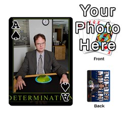 Ace The Office Playing Cards By Mark C Petzold   Playing Cards 54 Designs   Qgfjuwr2izuf   Www Artscow Com Front - SpadeA