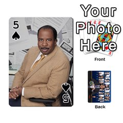 The Office Playing Cards By Mark C Petzold   Playing Cards 54 Designs   Qgfjuwr2izuf   Www Artscow Com Front - Spade5