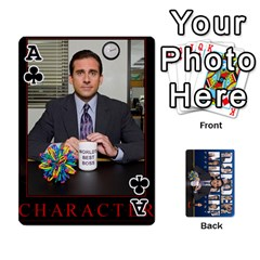 Ace The Office Playing Cards By Mark C Petzold   Playing Cards 54 Designs   Qgfjuwr2izuf   Www Artscow Com Front - ClubA