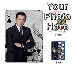 Jack The Office Playing Cards By Mark C Petzold   Playing Cards 54 Designs   Qgfjuwr2izuf   Www Artscow Com Front - SpadeJ