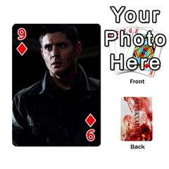 Supernatural Playing Cards By Leigh   Playing Cards 54 Designs   Nczfdibjb7rq   Www Artscow Com Front - Diamond9