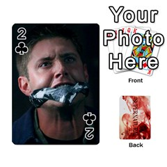 Supernatural Playing Cards By Leigh   Playing Cards 54 Designs   Nczfdibjb7rq   Www Artscow Com Front - Club2