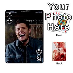 Supernatural Playing Cards By Leigh   Playing Cards 54 Designs   Nczfdibjb7rq   Www Artscow Com Front - Club5