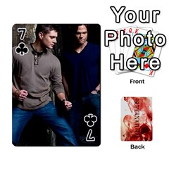 Supernatural Playing Cards By Leigh   Playing Cards 54 Designs   Nczfdibjb7rq   Www Artscow Com Front - Club7