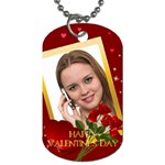happy valentine day - Dog Tag (One Side)
