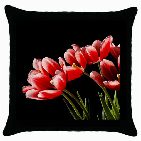 Tulips Facing Sun By Cheryl   Throw Pillow Case (black)   Dcss1lgbgyg2   Www Artscow Com Front