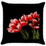Tulips Facing Sun - Throw Pillow Case (Black)