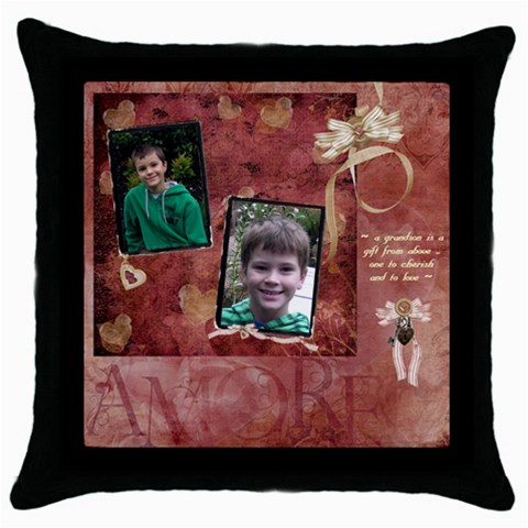 Cushion 1 By Dianne Nicholls   Throw Pillow Case (black)   Ousojqsqb9v5   Www Artscow Com Front