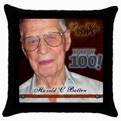 Pops Pillow By Nancyb   Throw Pillow Case (black)   Hbtau9jdoxjy   Www Artscow Com Front