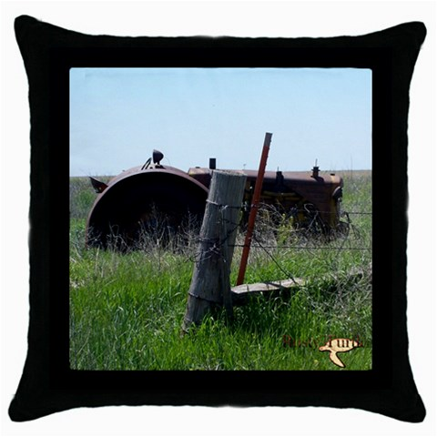 Tractorsidecolor By Amarilloyankee   Throw Pillow Case (black)   7vx14t5tg9s7   Www Artscow Com Front