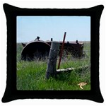 tractorsidecolor - Throw Pillow Case (Black)