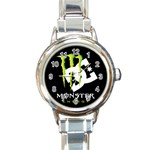 Monster Energy DC Round Italian Charm Watch
