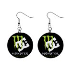 Monster Energy DC 1  Button Earrings
