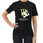 ME DC Women s Black T-Shirt (Two Sides)