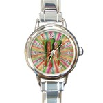 ME Rainbow Round Italian Charm Watch
