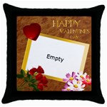 love theme - Throw Pillow Case (Black)