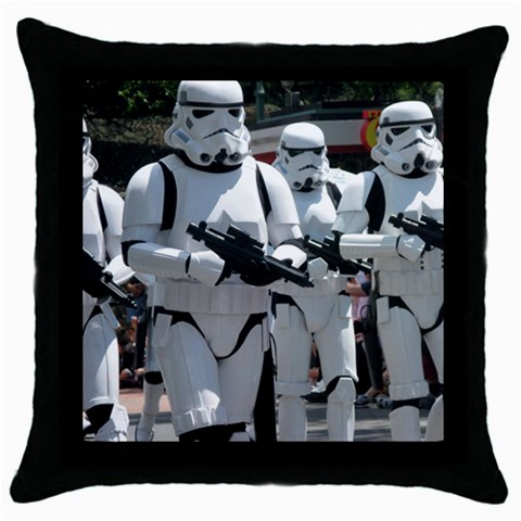 Storm Trooper Throw Pillow By Kellie   Throw Pillow Case (black)   Fb3p2c7qafar   Www Artscow Com Front