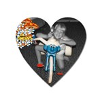 smurf bike - Magnet (Heart)