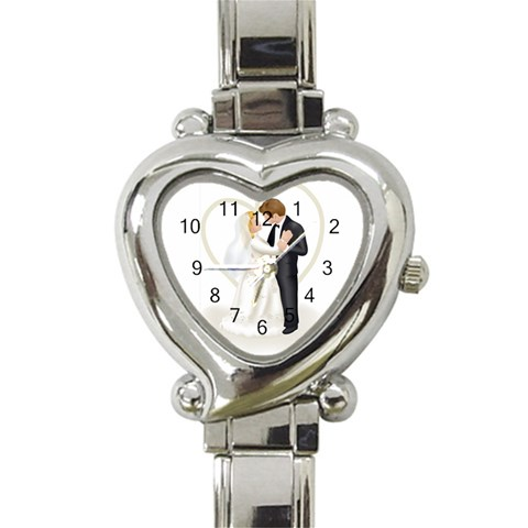 Personalized Love Watch By Ivy Escalona   Heart Italian Charm Watch   Gr0irvygz47v   Www Artscow Com Front