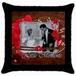 little Moments pillow - Throw Pillow Case (Black)