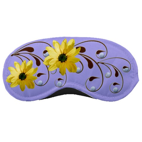 Floral Relaxation Blue By Alana   Sleeping Mask   Oihzzx2r5vh5   Www Artscow Com Front