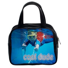 Cool Dude Pool Handbag By Catvinnat   Classic Handbag (two Sides)   Z0jduc5aq8z6   Www Artscow Com Front