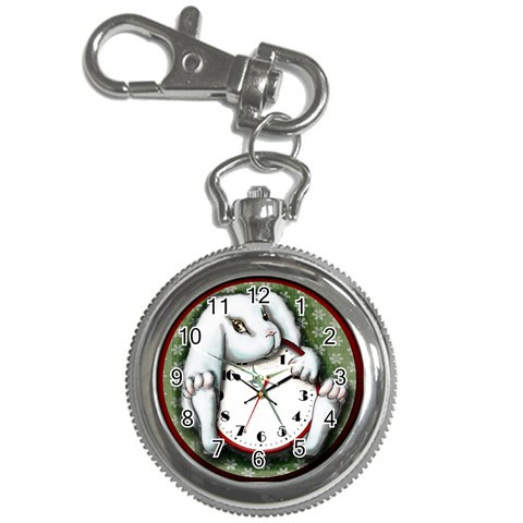 White Rabbit Keychain Watch By Doris Redrupp   Key Chain Watch   Xk9b0zjgt3wa   Www Artscow Com Front