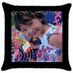 Pillow1 - Throw Pillow Case (Black)