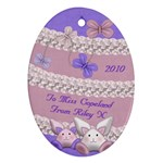 Teachers Easter present - Ornament (Oval)