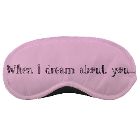 Pink Mask  By Carmensita   Sleeping Mask   5j9byeefmplr   Www Artscow Com Front