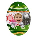 Funny easte - Ornament (Oval)