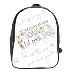 Mum Flowers Large Backpack - School Bag (Large)
