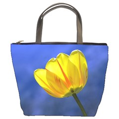 Tulip On Blue By Alana   Bucket Bag   0d6khq68bcqy   Www Artscow Com Front