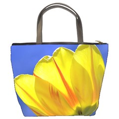 Tulip On Blue By Alana   Bucket Bag   0d6khq68bcqy   Www Artscow Com Back