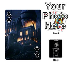 Ace Harry Potter Playing Cards By Mark C Petzold Front - SpadeA